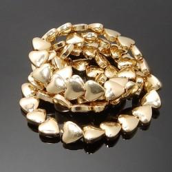 Hematit -srdce oblé 6mm zlaté