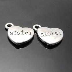 Srdiečka sister strieborné 2ks