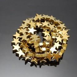 Hematitové hviezdičky zlaté...