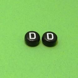 Písmenka čierne D