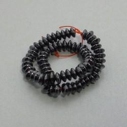 Hematit rondelka 6x2mm čierna