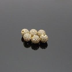 Zirkon kubicky 8x7mm zlatá