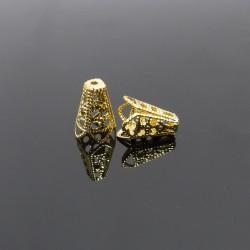 Kaplíky 10x16mm zlaté