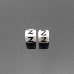 Biele kocky 6x6mm písmeno Z
