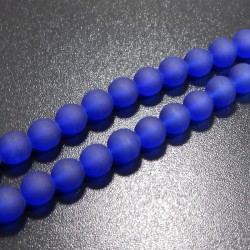 Matné korálky 8mm modrá