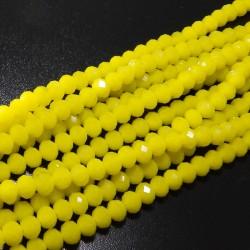 Rondelková šnúra 8x6mm žltá
