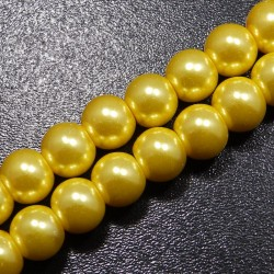 Voskované korálky 8mm zlatá