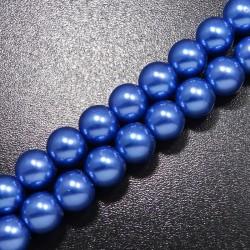 Voskované korálky 10mm modrá