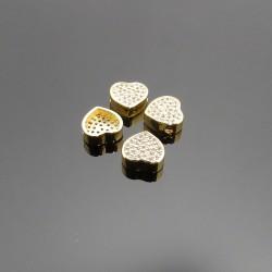 Zirkón kubicky zlaté srdce 9mm