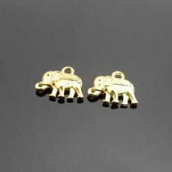 Prívesok sloník zlatá 10ks