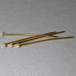 Ketlovacie nýty zlaté 30mm