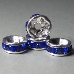 Štrasové rondelky 6mm modrá