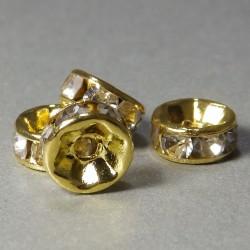 Štrasové rondelky 6mm zlaté