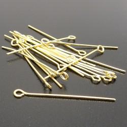 Ketlovacie ihly zlaté 30mm