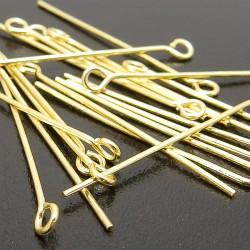 Ketlovacie ihly zlaté 40mm