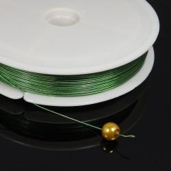 Poplastované lanko olivové