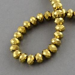Rondelková šnúra 8x6mm zlatá