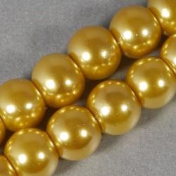 Voskované korálky 6mm zlatá
