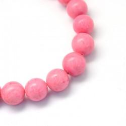 Jadeit mashan 10mm tm.ružový