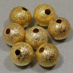 Pieskované korálky 8mm zlaté